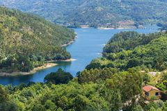 Dam at Canicada. In the Geres mountain range, Portugal stock image