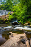 Dam and cascades on the Cullasaja River Royalty Free Stock Photography