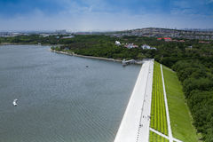 Dam of china. The dam in changchun jilin city of China Stock Photo