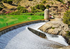 : Dam at Chorro river. Andalusia Stock Photography