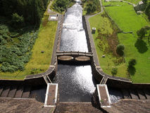 Dam of Clearwen reservoir Stock Photography