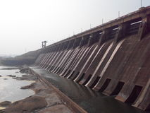 Dam. Close view of Hirakud dam Royalty Free Stock Image