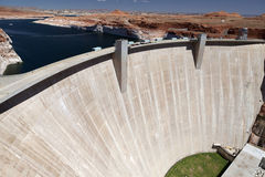 The dam on the Colorado River Stock Image