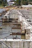 Dam construction Royalty Free Stock Photo