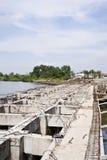 Dam construction Royalty Free Stock Photography