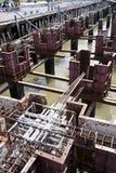 Dam construction Royalty Free Stock Image