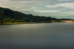 Dam is for the construction of a large dam water,from Khun dan p Stock Photography