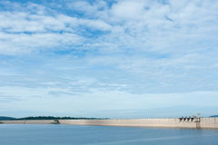 Dam is for the construction of a large dam water,from Khun dan p Royalty Free Stock Image