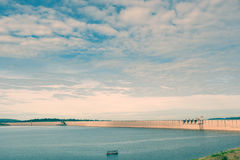Dam is for the construction of a large dam water,from Khun dan p Royalty Free Stock Photos