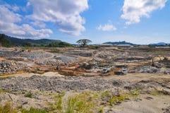 Dam Construction Machinery. Wide angle of Dam Construction Machinery image Stock Images