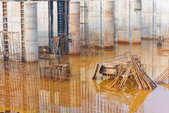 Dam construction site Stock Images