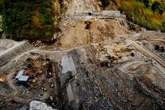 Dam constructions in progress Stock Photo
