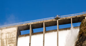 Dam of Contra Verzasca, spectacular waterfalls Royalty Free Stock Photos