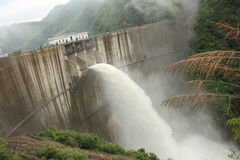 Dam discharge water Stock Photography