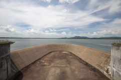 Dam. The dry dam waiting for the water Royalty Free Stock Images