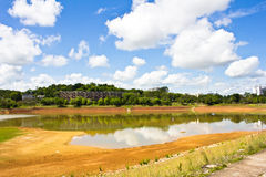 Dam dry water landscape Stock Photography