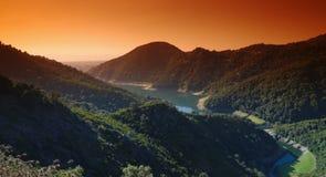 Dam on eastern coast of Corsica Stock Image