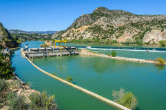Dam on the Ebro River in Spain royalty free stock photos