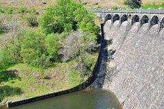 dam in Elan Valley in Wales, UK Royalty Free Stock Images