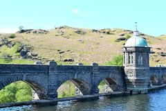 dam in Elan Valley in Wales, UK Royalty Free Stock Photography
