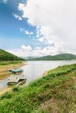 Dam en reservoir in Thailand Royalty-vrije Stock Fotografie