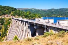 Dam at Encoro de Prada in sunny day.  Galicia Royalty Free Stock Photography