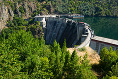 Dam of Energy power station at Sil river. Galicia Royalty Free Stock Image