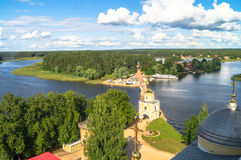 View from the bell tower of the Epiphany Cathedral in the direction of the dam and Svetlitskaya gate tower. Royalty Free Stock Photography