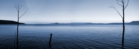 Dam at evening. Sterkfontein Dam - Free State, South Africa Royalty Free Stock Photography