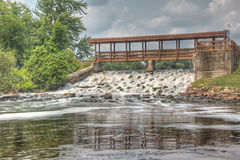 Dam in Falmouth Michigan Stock Photography