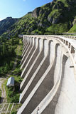 Dam in Fedaia lake Stock Images
