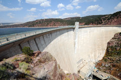 Dam at Flaming Gorge Royalty Free Stock Images