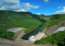 Dam and the forest Royalty Free Stock Photography
