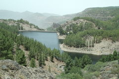 Dam in Gran Canaria Stock Photo