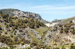 Dam of grazalema Stock Image