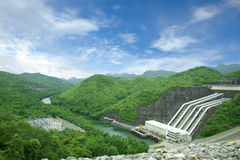 Dam in green forest Royalty Free Stock Photo