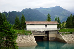 Dam and house Stock Photo