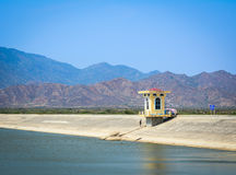 Dam of the hydro power sation. Phan Rang, Vietnam - Mar 24, 2016. Dam of the hydro power sation in Phan Rang, Vietnam. Phan Rang is a new city in Vietnam and the Stock Images