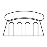 Dam Hydroelectric isolated icon. Illustration design Royalty Free Stock Photography