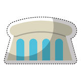 Dam Hydroelectric isolated icon. Illustration design Royalty Free Stock Photo