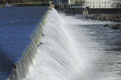 Dam Hydroelectric Low Head Water Falling Royalty Free Stock Photography