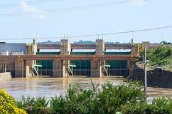 Dam of hydroelectric plant of Santo Antonio in Porto Velho Royalty Free Stock Images