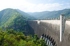 Dam of hydroelectric power station Stock Photo