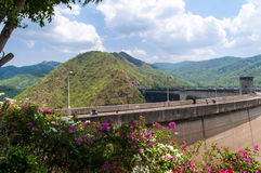 Dam of hydroelectric power station. And irrigation Royalty Free Stock Photo