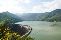 Dam of hydroelectric power station and irrigation. Stock Images