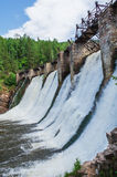 Dam of the hydroelectric power station Stock Photography