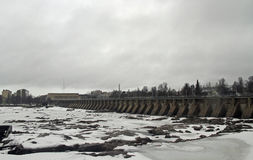 Dam of hydroelectric power station in Oulu Royalty Free Stock Photography