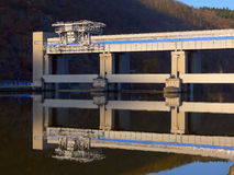 Dam on the river stock photography