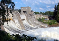Dam Imatrankoski in Imatra Stock Photos