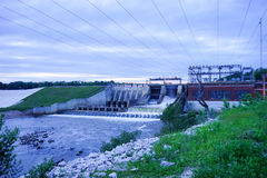 A Dam in indiana Royalty Free Stock Photo